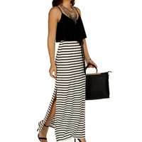 Naughty And Nice Striped Maxi