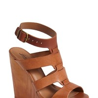 Women's Lucky Brand 'Roselyn' Leather Caged Platform Sandal,