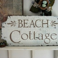 BEACH COTTAGE Vintage Shabby Chippy Chic by thebackporchshoppe