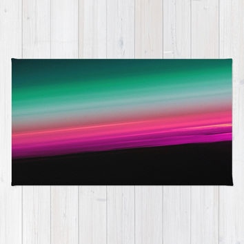 Fuchsia to Teal Smooth Ombre Rug by 2sweet4words Designs