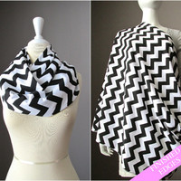 Nursing  scarf, breastfeeding cover, cover for breast feeding, nursing cover up, nursing infinity scarf, nursing cover , Black white scarf