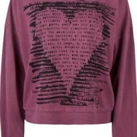 FULL TILT Scribble Heart Womens Sweatshirt