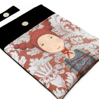 Tied up girl - Padded iPad Sleeve, iPad Cover, iPad case, Unique Design fabric printing, Protected cover