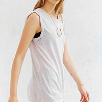 Truly Madly Deeply Twisted Cuff Muscle Tee-
