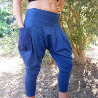 Pixie pants, Drop-Crotch pants, Harem Pants, Pockets pants, Yoga pants, Aladdin pants