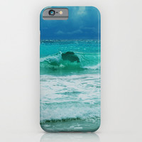 TURQUOISE WAVE iPhone & iPod Case by Catspaws