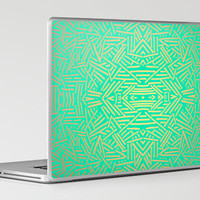 Radiate (Gold Teal) Laptop &amp; iPad Skin by Jacqueline Maldonado | Society6