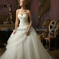 Ball Gown Organza Cheap Wedding Dress