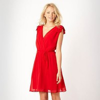 Red Grecian chiffon dress at debenhams.com