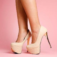 Di$count Deal$ Depot — Studded Platform Pumps (LIGHT NUDE)*Brand New*
