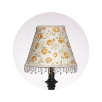 Shabby Chic Golden Yellow Rose fabric - Lamp Shade