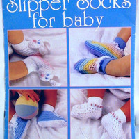 BABY SLIPPER SOCKS Patterns 8 Designs by Sue Penrod