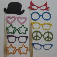 Photo Booth Party Props The Colorful by olivetreemonograms