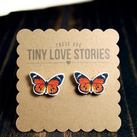European Butterfly Earrings from Tiny Love Stories