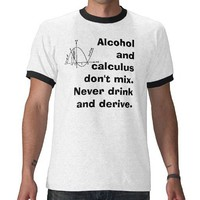 Alcohol & Calculus T Shirts from Zazzle.com