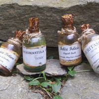 Harry Potter  POTION BOTTLE SET Snape's Cabinet by Lilacpumpkin