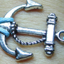 Anchor-antique silver anchor bracelet,small anchor  blue wax cord bracelet