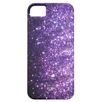 Purple Glitter Bling Cover iPhone 5 Case from Zazzle.com
