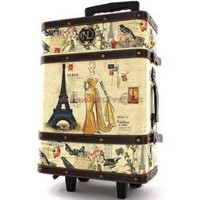 Nicole Lee Parisian Fashion Steamer Trunk/Rolling | eBay
