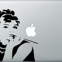 Audrey Hepburn Macbookpro Decal | macbookprodecal - Housewares on ArtFire