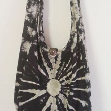 Tie Dye Bag Purse Hobo Hippie Sling Crossbody Shoulder Top ZipDenim Denim Tie Dye Clutch Beach bag Boho Boho Bag
