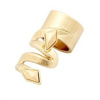 Belle Noel Faceted Metal Stone Finger Ring