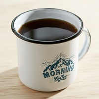 Morning Coffee Enamel Mug- Blue One
