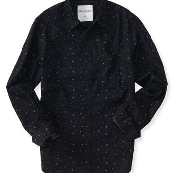 Aeropostale  Long Sleeve Star Woven Shirt
