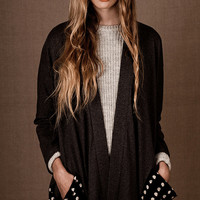 Oversized Kimono Coat in Anthracite - organic cotton