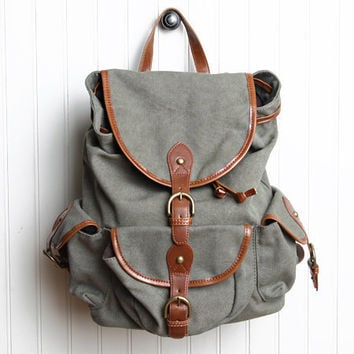 traveling soldier canvas backpack