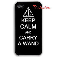 Harry potter, iPhone 4 Case, iPhone 4s Case, iPhone 4 Hard Case, keep calm and Deathly Hallows Pattern iPhone Case