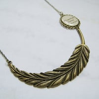 Wingardium Leviosa Feather Necklace by ccppolly on Etsy