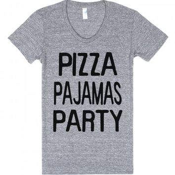 Pizza Party-Unisex Athletic Grey T-Shirt