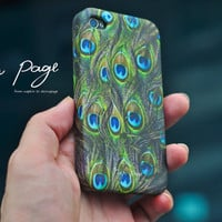 Apple iphone case for iphone iphone 4 iphone 4s iphone 3Gs : Peacock feather pattern