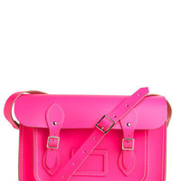 Upwardly Mobile Satchel in Neon Pink - 13"