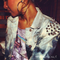 Urban Eclectics — Acid Washed Denim Studded Jacket