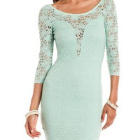 Crochet Lace Body-Con Dress: Charlotte Russe