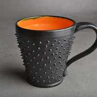 Spiky Coffee Mug by Symmetrical Pottery