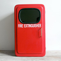 vintage fire extinguisher wall cabinet by lacklusterco on Etsy