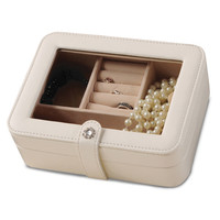 Ivory Clear Top Travel Jewelry Case Available In Black/Ivory - Perfect Gift Jewelry-boxes: Ivory - Ivory Clear Top Travel Jewelry Case Available In Black/Ivory - Perfect Gift Jewelry-boxes / Ivory