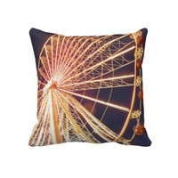 Ferris Wheel Throw Pillow from Zazzle.com