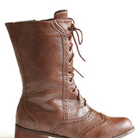 Hideaway Combat Boots - $46.00: ThreadSence, Women's Indie & Bohemian Clothing, Dresses, & Accessories
