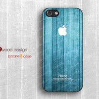 NEW iphone 5 case black iphone 5 cover blue wood texture image unique design image printing atwoodting design