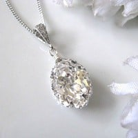 Swarovski Crystal Drop Bridal Neckl.. on Luulla