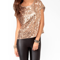 Oversize Sequined Top
