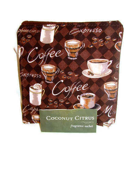 Scented Hot Pad Set Coffee Brown