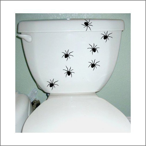 Halloween Spider Decals in Black - Set of 9