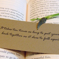 Back Together  - Hunger Games Mockingjay Quote - Mockingjay Charm Bookmark