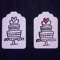 10 Wedding Cake gift tag