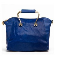 Blue Fashion Shoulder Bag With Fur$59.00